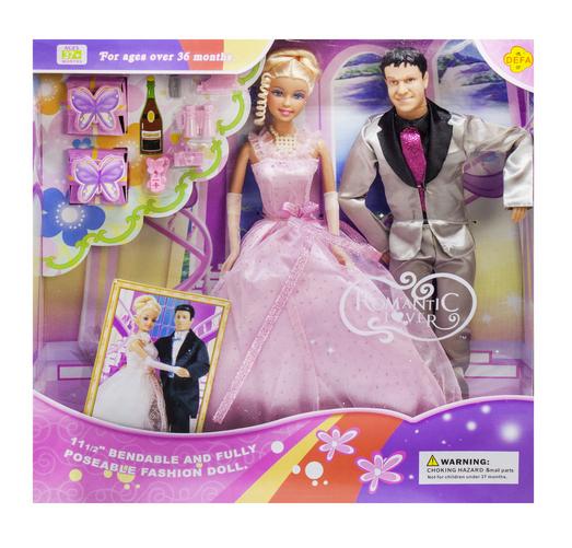 Набір ляльок для дітей.Іграшки для дівчаток.Набір дитячих ляльок наречений і наречена.