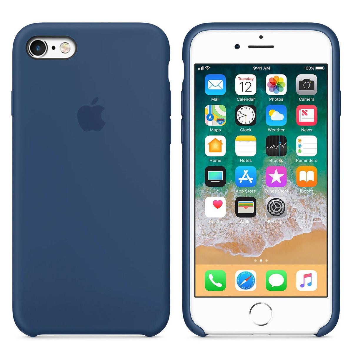 Силиконовый чехол для Apple iPhone 6 Plus / 6S Plus Silicone case (Синий Кобальт)