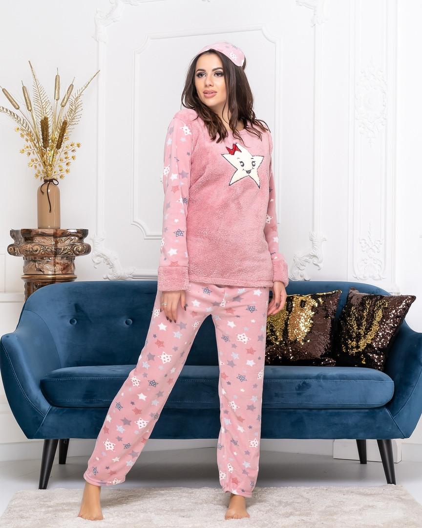 Женская теплая мягкая пижама теплый плюш домашний комплект размер: 42, 44, 46, 48, 50