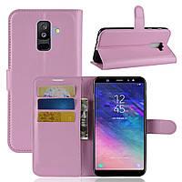 Чехол-книжка Litchie Wallet для Samsung A605 Galaxy A6 Plus 2018 Светло-розовый