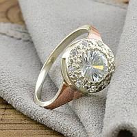 """Серебряное кольцо """"Олеся"""", вставка белыефианиты, вес 3.15 г, размер 18"""