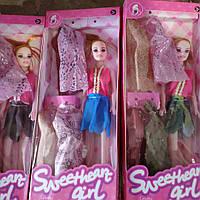 """Лялька (кукла) типу """"Барби"""" 6004A (1617560) (120шт/2) 6 видів, з набором одягу, в кор. 32*4*13 см"""