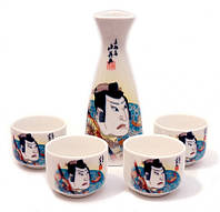 9200013 Набор для саке, Самураи в синем кимоно.