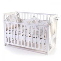 Ліжко Верес Соня ЛД13 без шухляди (цвет: белый, пудра, серый, орех) съемные спицы