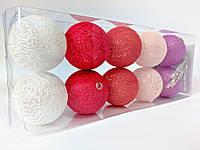 Гирлянды декоративные Cotton Balls 10led, диам 6см, длина 180см на батарейках АА #3