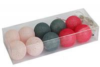 Гирлянды декоративные Cotton Balls 10led, диам 6см, длина 180см на батарейках АА #5