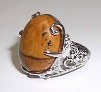 """Кольцо с желтой яшмой """"Калипсо"""" размер  19 от студии LadyStyle.Biz"""