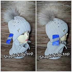 Комплект для девочки (шапка и хомут)