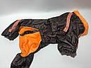Комбинезон на меху 35 см разм 2 коричневый для собак, фото 3