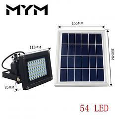 Светильник на солнечной батарее Ledertek 54 led