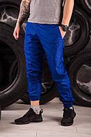 Яркие синие спортивные штаны President - плащевка