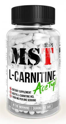 Жироспалювач MST Nutrition L-Carnitine Acetyl 90 caps, фото 2