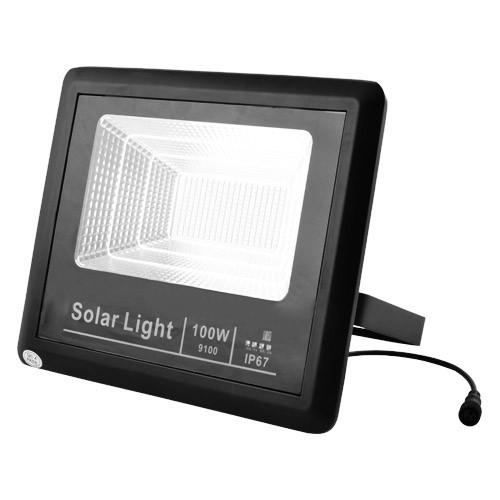 Прожектор на аккумуляторе и солнечной батарее 9100 100W SMD