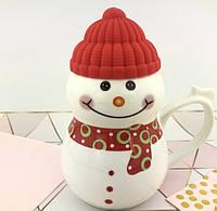 Чашка керамическая снеговик новогодняя кружка SNOWMAN, фото 1