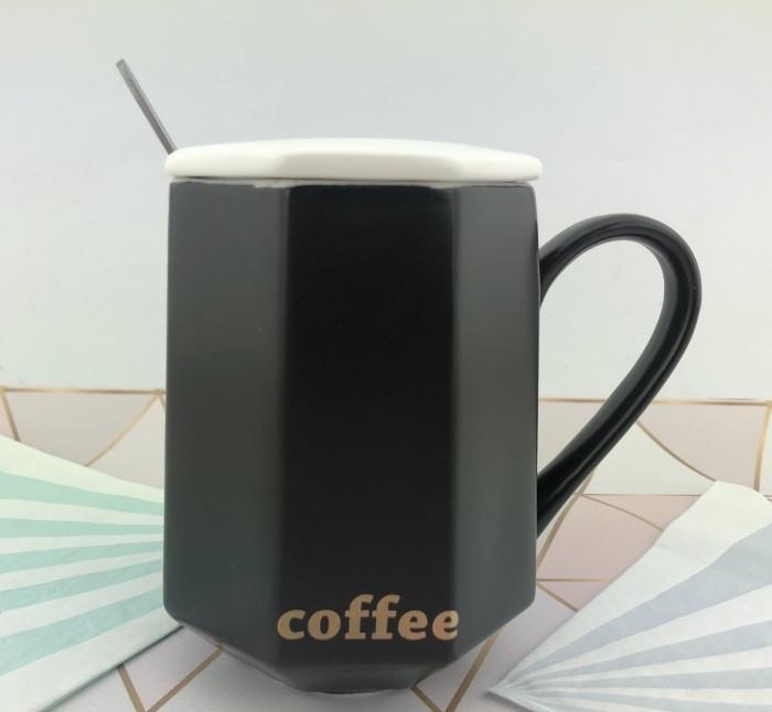 Чашка керамическая черная для мужчин Black Coffee