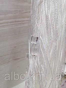 Нити шторы с камнями 300x280 cm Белые (NK-7)