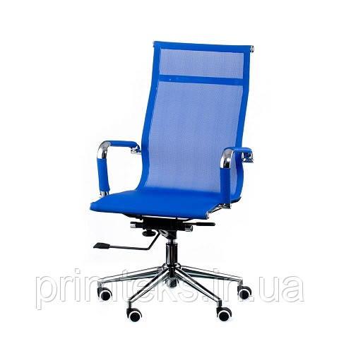 Кресло Solano Mesh (Оскар Лайт) chrome  blue