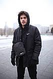 Парка  мужская  зимняя  черная  Nike Найк (реплика), фото 6