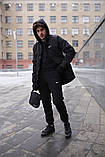 Парка  мужская  зимняя  черная  Nike Найк (реплика), фото 5