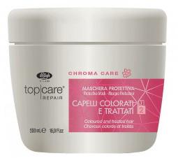 Защитная маска  для окрашенных волос Lisap Top Care Repair Chroma Care protective mask , 250 мл