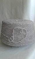 Пряжа букле Pinori Filati art Troy 26% Меринос,26%Альпака, 35%PA, 12%PC, 1% ЕА.  280м /100гр. Серо-бежевый