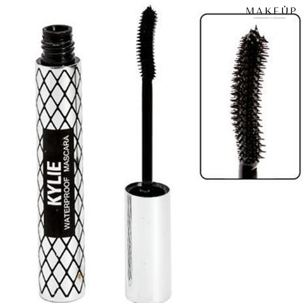 10 мл Объемная тушь для ресниц Kylie Waterproof Silver Edition | черная, силиконовая, для обьема