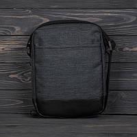 Мужская сумка ОСТИН БРЮ серая, стильный мессенджер, спортивная барсетка, сумка через плечо