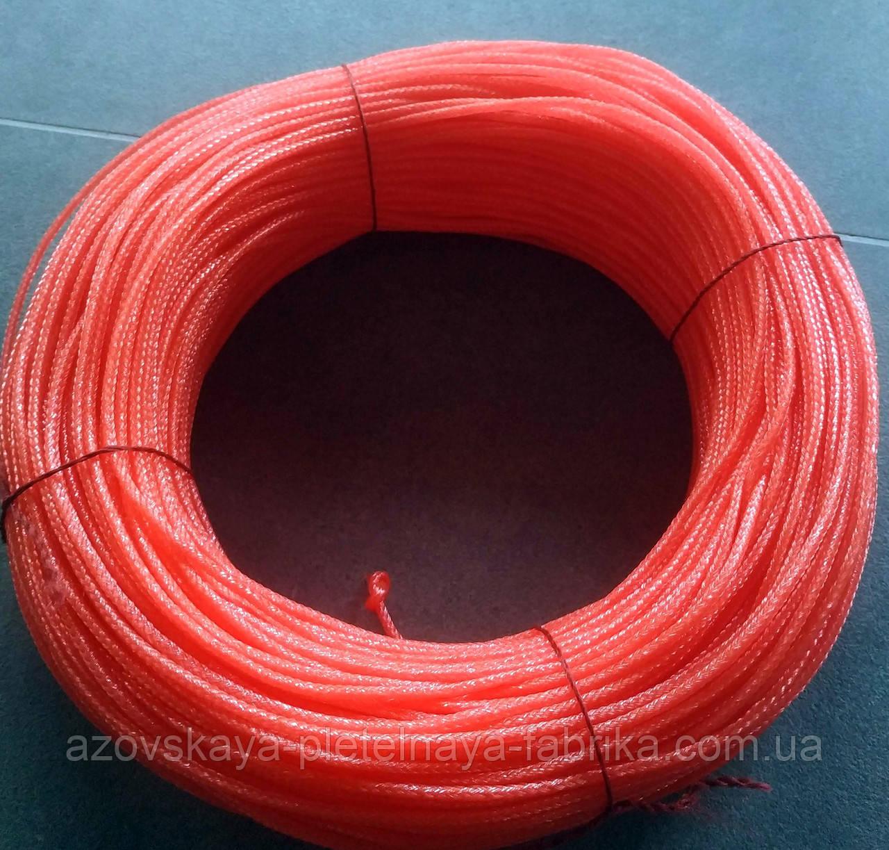 Фал лесковый плетеный 4 мм 200 м