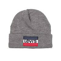Мужская теплая зимняя шапка Levis шапки бини мужские оригинал Левис США