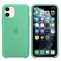Силиконовый чехол для Apple iPhone 11 Silicone case (Мятный)