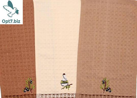 Полотенце кухонное вафельное 25*50 см (от 12 шт), фото 2