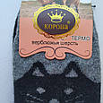 Носки женские шерстяные черные котики размер 37-42, фото 2