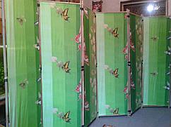 """Ширма из бамбука 170х300см """"Бабочки"""" зелёная"""
