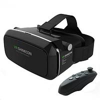 VR BOX черный/ Очки вирт-ной реальности, 3D очки виртуальные с джойстиком, Шлем виртуальной реальности