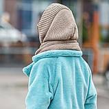 Сірий молодіжний взаный капор снуд кольори в асортименті, фото 6