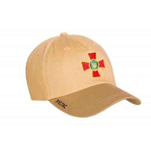 """Бейсболка с логотипом """"Национальная Гвардия Украины"""" (Flexfit), [1174] Coyote Brown"""