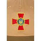 """Бейсболка с логотипом """"Национальная Гвардия Украины"""" (Flexfit), [1174] Coyote Brown, фото 3"""