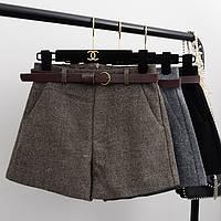 Женские короткие шорты на зиму 42-46 (в расцветках)