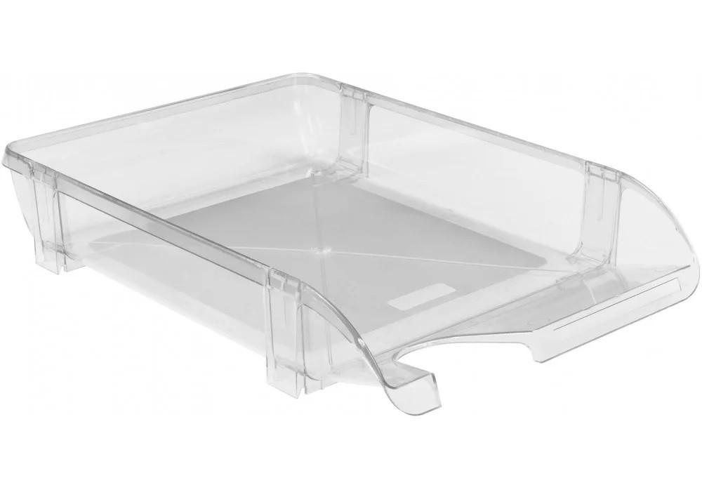 Лоток для бумаг горизонтальный Economix, пластик, прозрачный