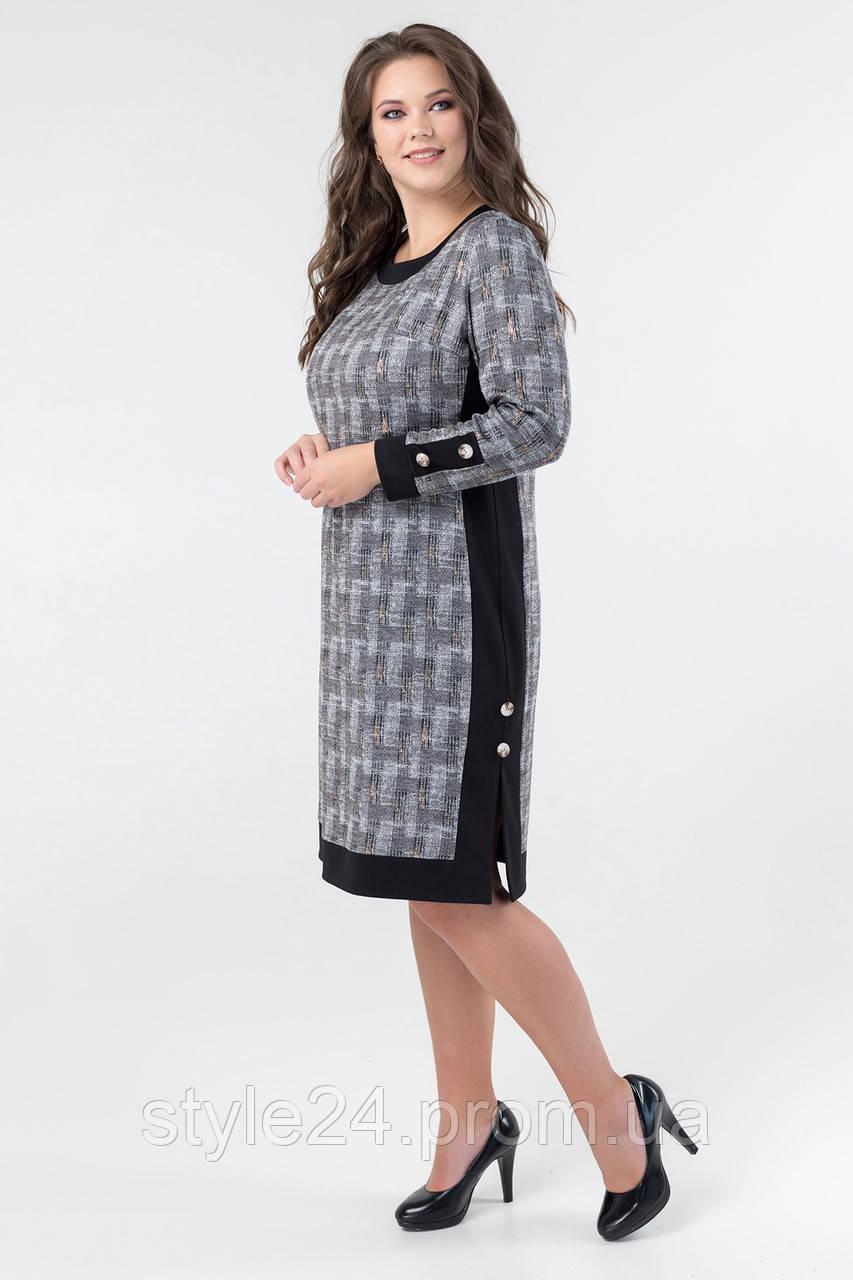 Батальне  тепле плаття з гудзиками .Р-ри 52-60