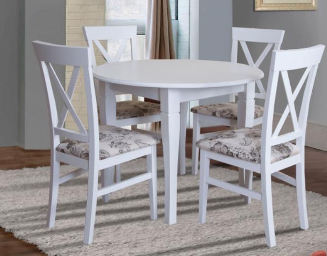 Деревянный стул в стиле прованс -Каскад (белый, орех)