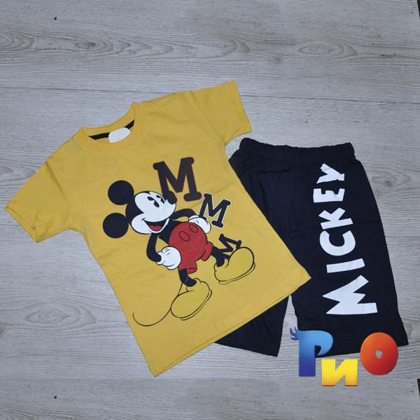 """Летний легкий костюм (футболка, шорты), """"Mickey"""", для мальчика (4-8 лет)(5 шт. в уп.)"""