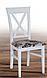 Деревянный стул в стиле прованс -Каскад (белый, орех), фото 6
