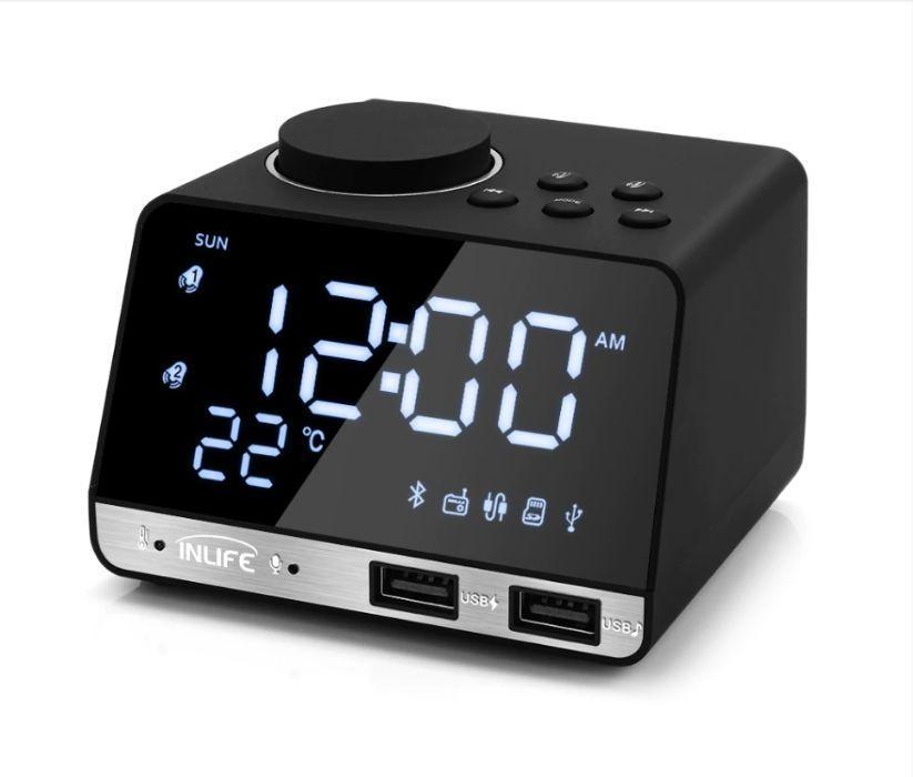 Колонка Bluetooth Inlife K11 FM радио будильник