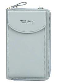 Женский клатч Baellerry forever через плечо Голубой (сероватый оттенок), кошелек, сумочка для телефона