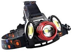 Налобний ліхтар Police 2118 T6+2COB (CZK20 T6)
