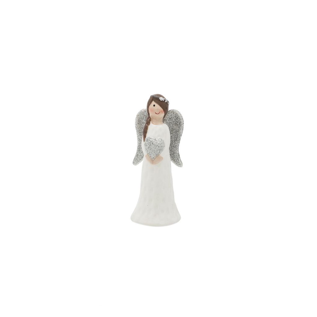 Ангел девочка с сердцем белая 9см 109032