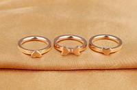 """Кольцо розовое золото """"Клевер"""" 7, фото 2"""