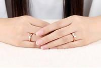 """Кольцо розовое золото """"Клевер"""" 7, фото 3"""