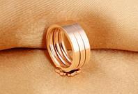 """Кольцо розовое золото """"Клевер"""" 7, фото 5"""